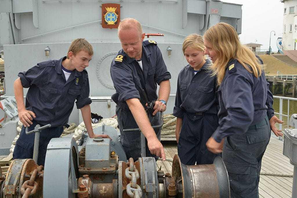 Zeekadetten en veel vrijwilligers